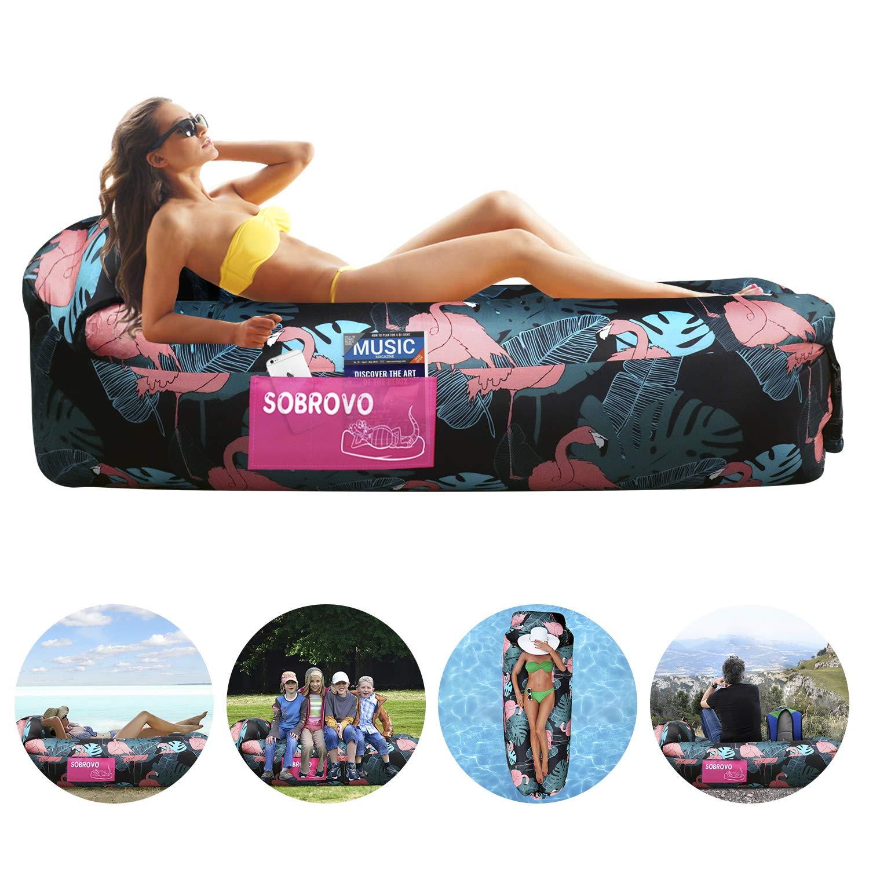 Playa Piscina Sobrovo Tumbona Inflable sof/á de Aire port/átil Impermeable para Acampar Viajes Senderismo Patio