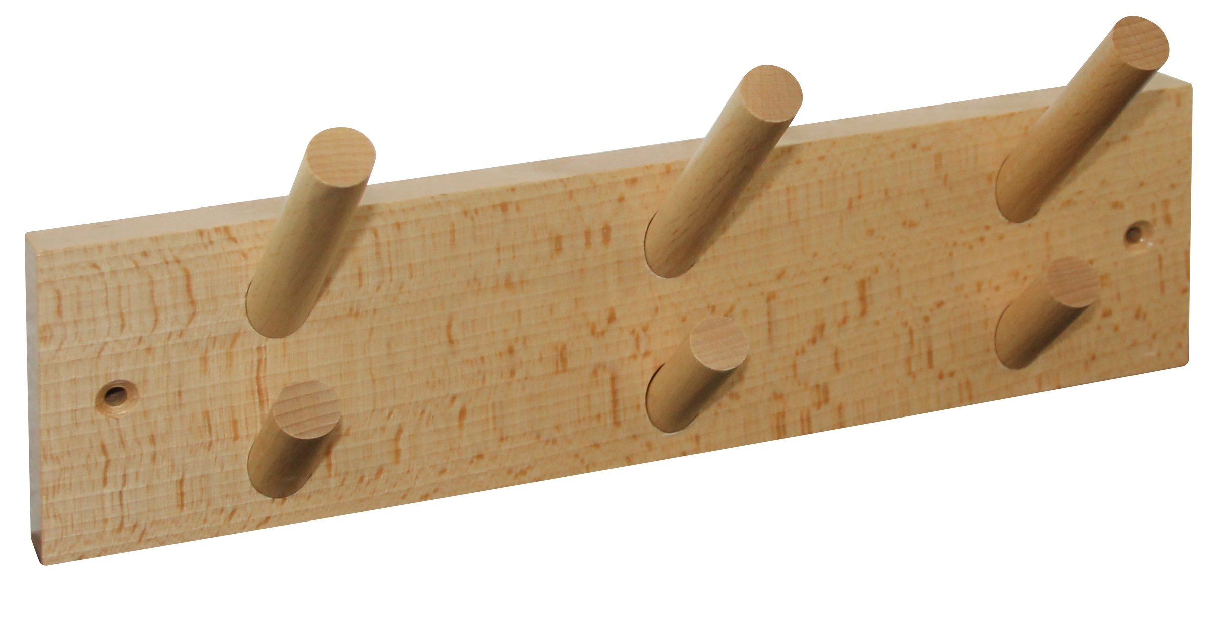 HSI Coat Rack with 6Hooks, 300x 80x 80mm, Beech Natural 563810