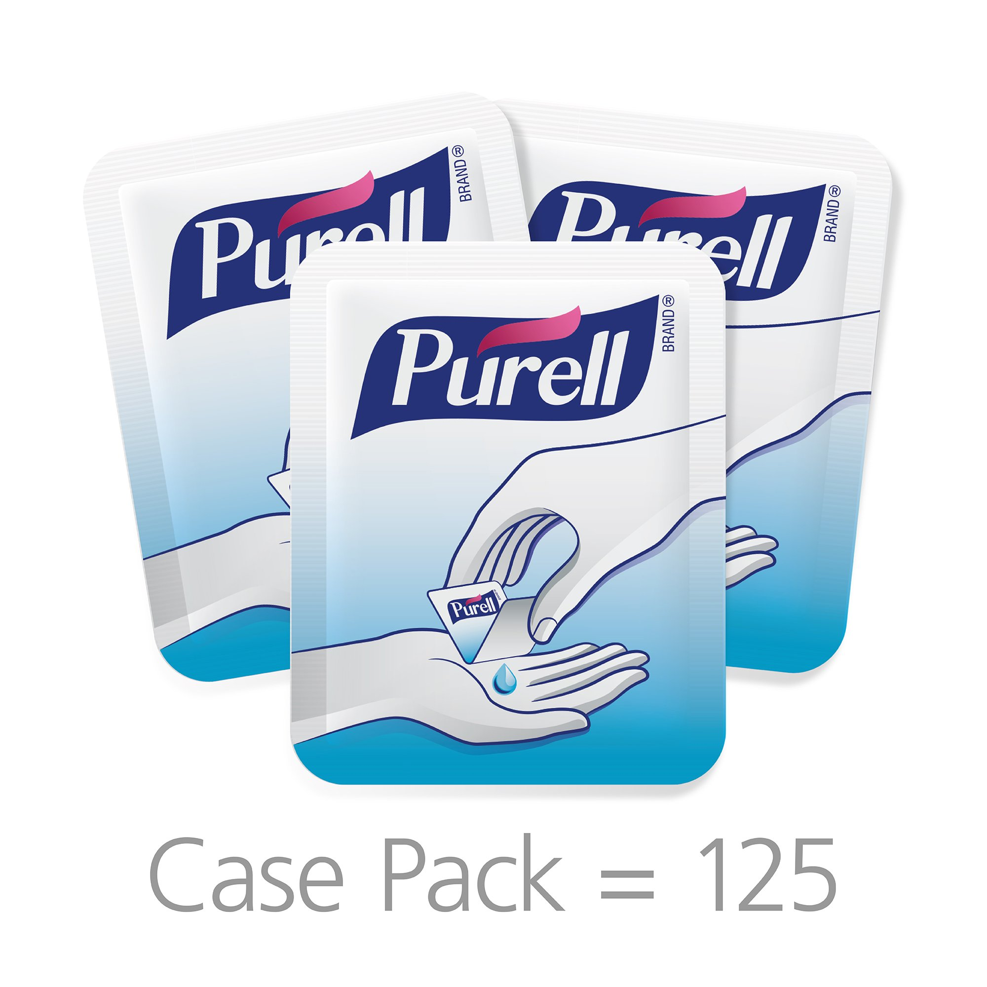 PURELL Advanced Hand Sanitizer Singles - Travel Size Single Use Individual Portable Packets, 125 count Self Dispensing Packets in a Display Box - 9620-12-125EC by Purell (Image #3)