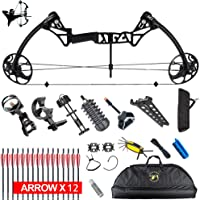 "XQMART XGeek Compound Bow Package & Arrow Accessory Kit,M1,adjustable Draw Weight 15-70Lbs with Max Speed 320fps,19""-30"" Draw Length (Right Handed) (Multi-color Options)"