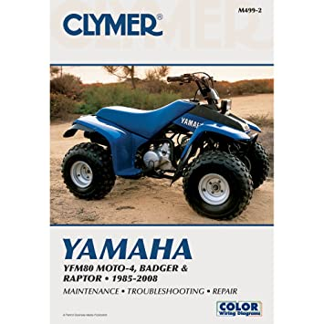 amazon com 1 clymer yamaha yfm80 moto 4, badger \u0026 raptor (1985 YFM80 Wiring Diagram 1986 amazon com 1 clymer yamaha yfm80 moto 4, badger \u0026 raptor (1985 2008) everything else