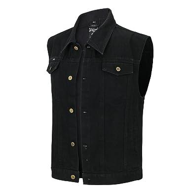 Capricorn Rockwear Jeans Weste - Schwarz - ÜBERGRÖßE - Gr.  3XL - 8XL   Amazon.de  Bekleidung c241c21ab4