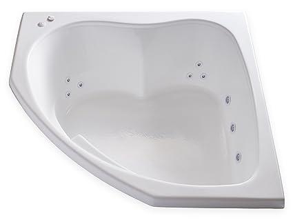 Carver cubos – skc5555 esquina Drop en – 12 Jet Whirlpool bañera de desagüe, Self