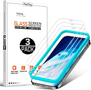 FeiCHy for iPhone 12 mini Screen Protectors with 5.4 Inch(3 Pack), for Anti-scratch,Anti-dust and Anti-burst Tempered Glass Screen Protector iPhone 12 mini - Clear Full screen cover