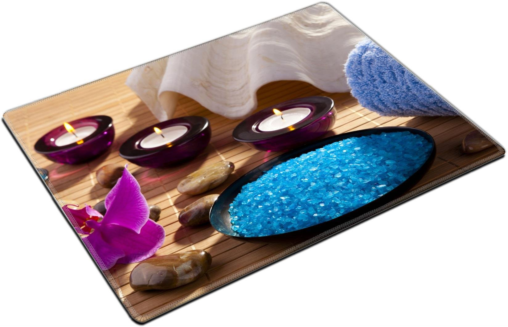 MSD Place Mat Non-Slip Natural Rubber Desk Pads Design: 37819130 Spa sea Salt Body Care Relaxation Candles Flavored