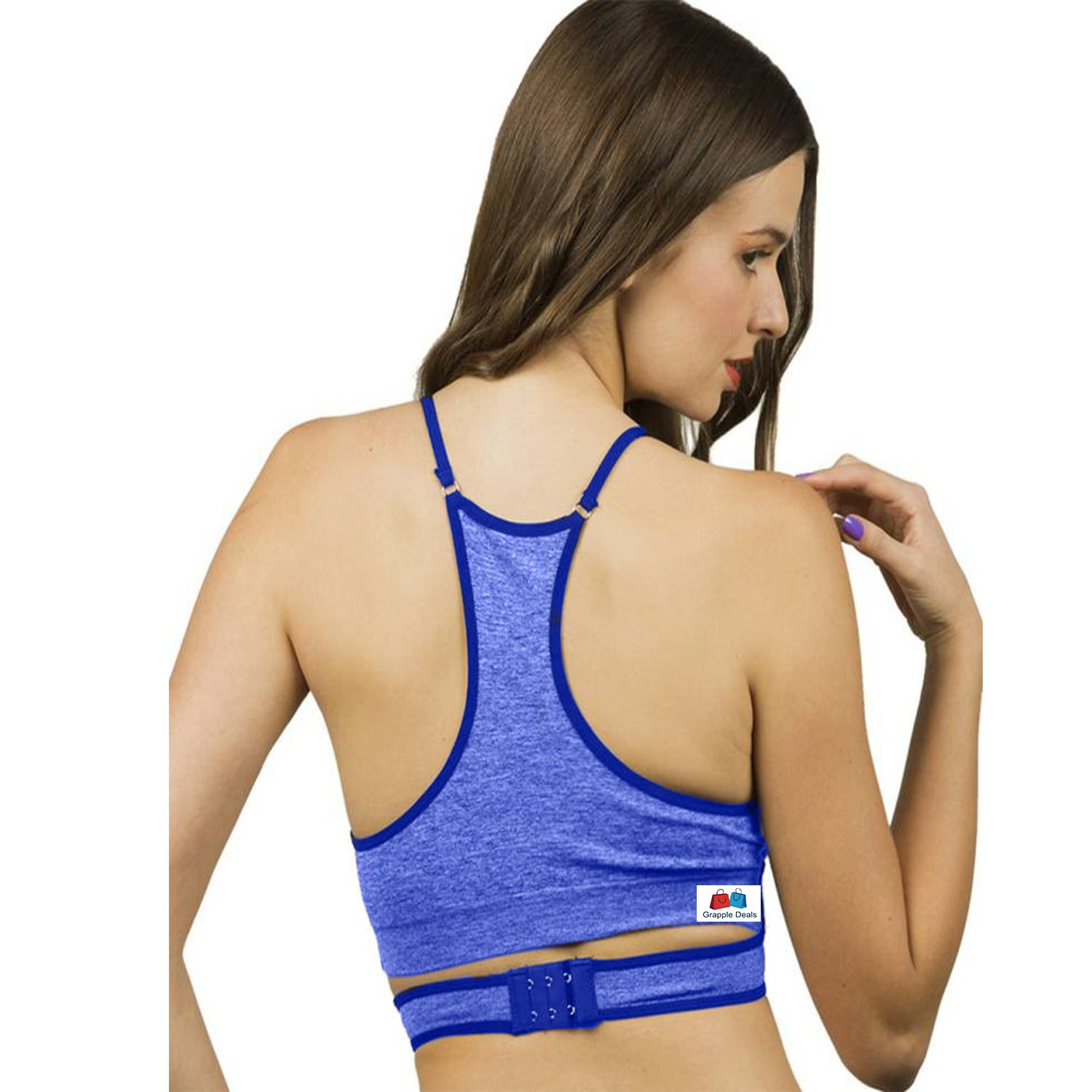 289838b584190 GRAPPLE DEALS Women s New Design Double Cross Strap At Front Comfort  Workout Fitness Sports Bras Yoga Athletic Gym High Impact Underwire Padded  Racerback.