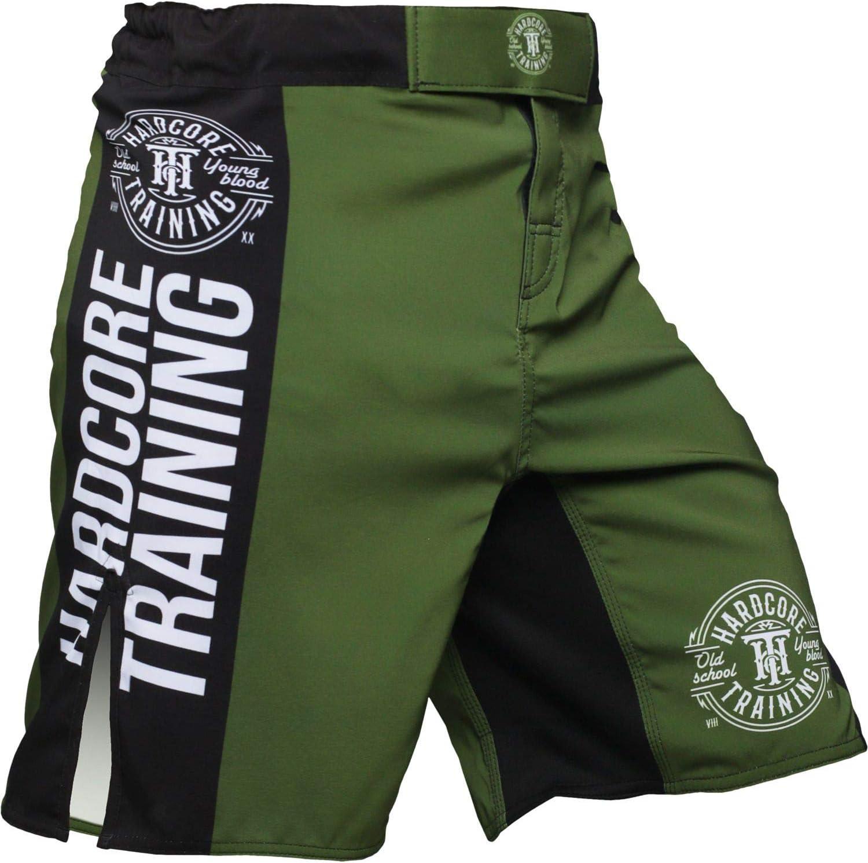 Hardcore Training Fight Shorts Mens Recruit Nero Rosso Verde Viola Pantaloncini da Boxe Uomo Cage Fight BJJ Fitness Gym
