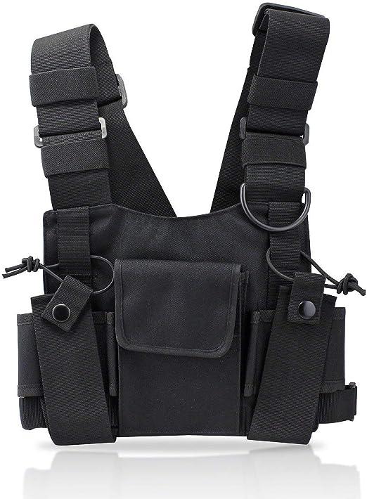 KEESIN Sacs de harnais de poche de poche de talkie walkie de radio emballent le sac à dos Holster Radios bidirectionnelles Mallette de transport