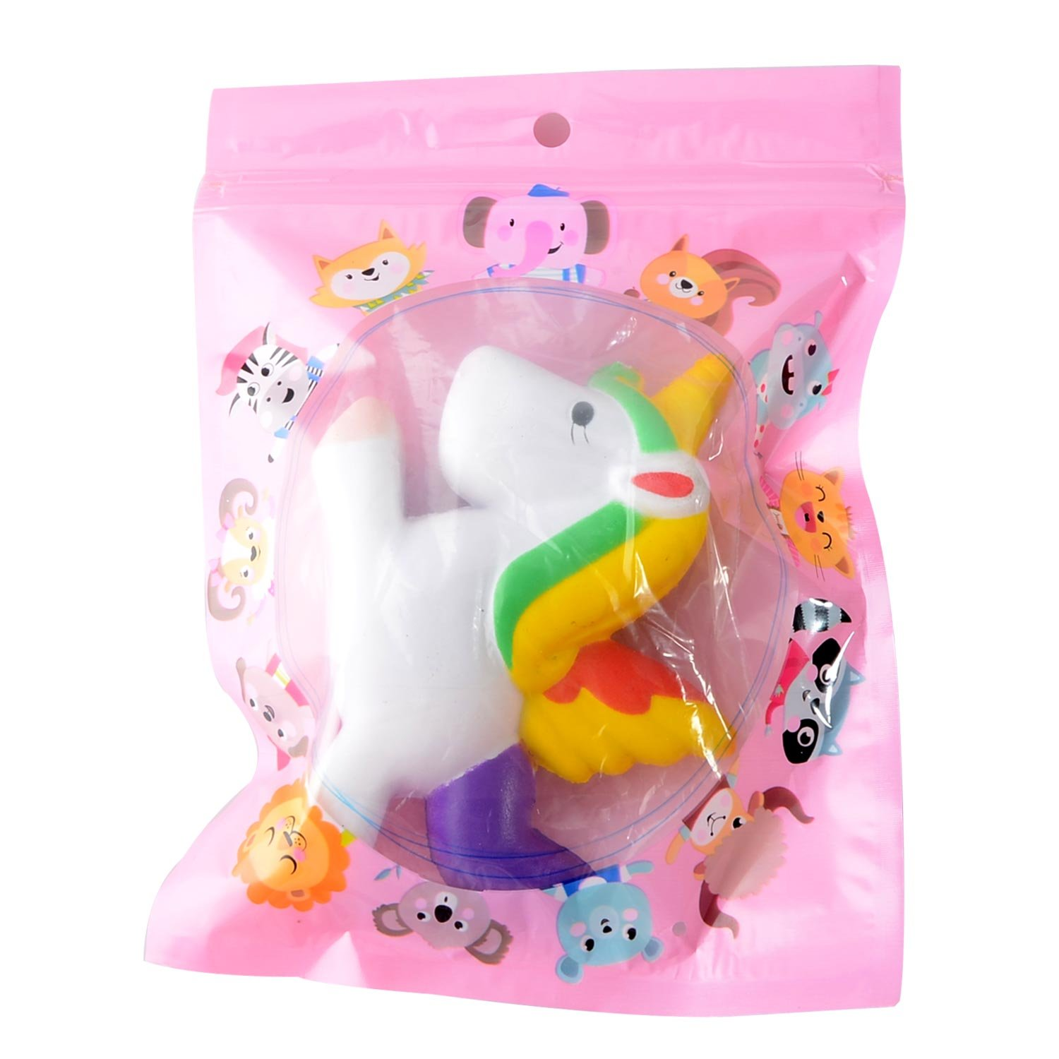 Firlar Unicorn Squishy Animal Slow Rising Stress Relief Toy for Kids Adults (A)