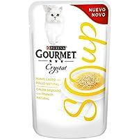 Purina - Gourmet Crystal Soup Pollo Natural y Verduras - Pack de 32 x 40 g - Total 1280 g