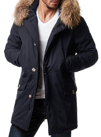 Jacke schwarz lang