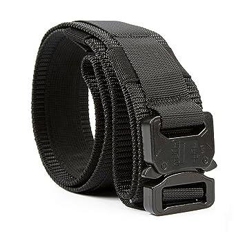 Yisibo Cinturón Táctico Militar Estilo 1.5 Pulgadas Hombres/Mujeres Cinturones Cinturón de Cintura Ajustable con Sistema Molle Hebilla de Metal de ...