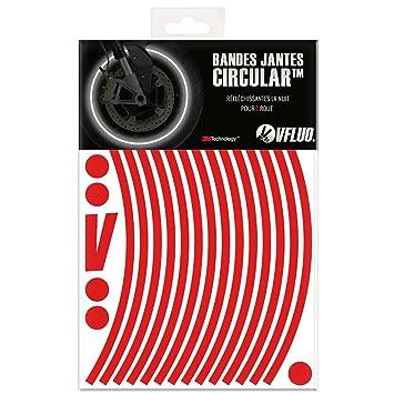 VFLUO Circular™, Kit de Cintas, Rayas Retro Reflectantes para Llantas de Moto (