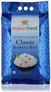 TAJ Indian Treat Classic Basmati Rice, Extra Long Grain, 10-Pounds