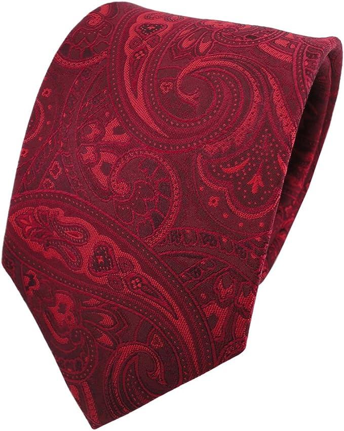 TigerTie diseñador corbata de seda - rojo burdeos rojo-rubí ...