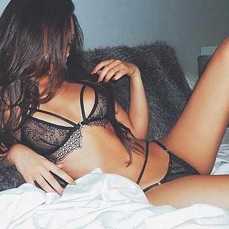 Amazon.com: Hmlai Women Sexy Lingerie Lace Flowers Push Up Top Bra Panty Underwear Set: Clothing