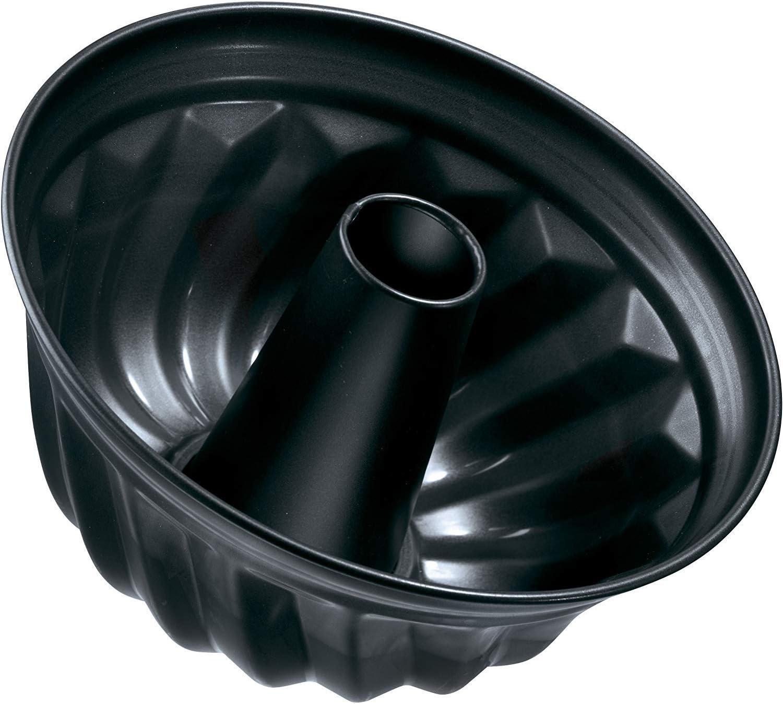 Zenker Black Metallic Molde Bundt. Acero con revestimiento antiadherente Teflon. Ø25x11,5cm. Negro