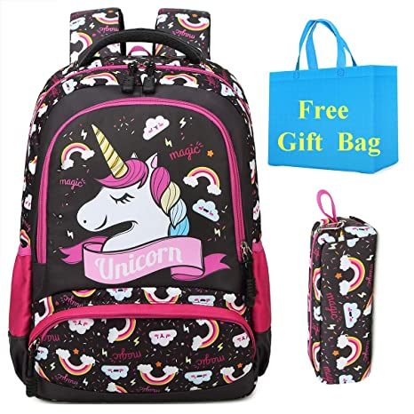 Amazon.com: Unicorn Backpack School Backpack for Girls Water ...