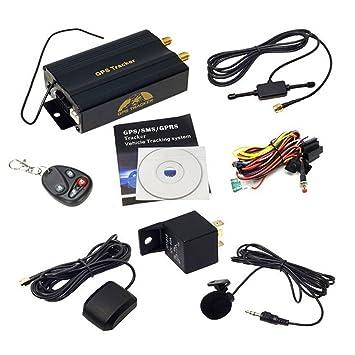 TK103B vehículo GPS Tracker en tiempo real GSM alarma de coche seguimiento dispositivo w/Remote