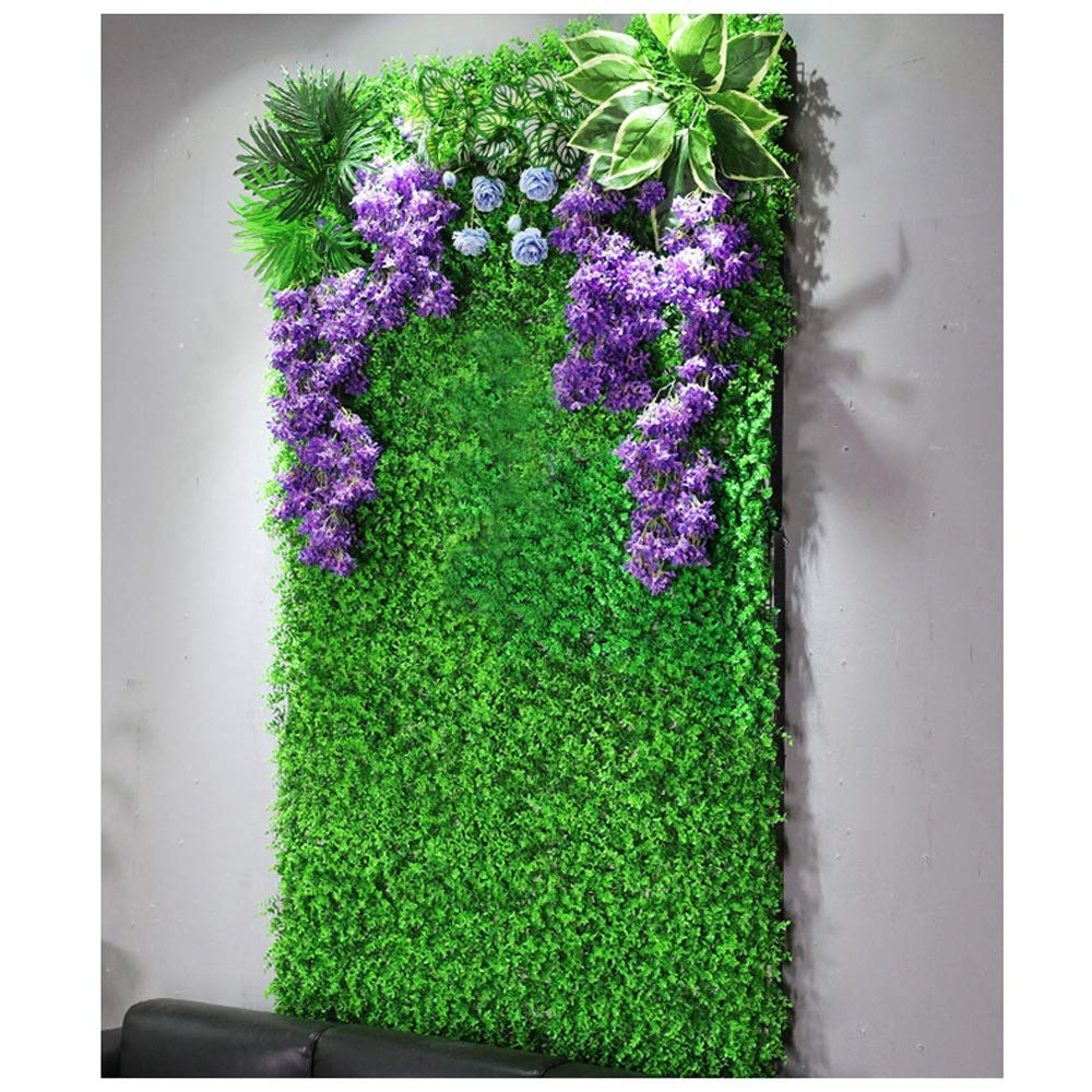 MS Furniture Simulation Plant Wall Lawn Turf Background Wall Decoration Fake Flower Green Plant Wall Surface Green Plastic Indoor Environmental Protection @ (Color : 3) by MS Furniture
