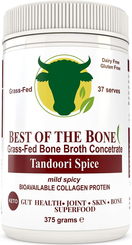 Brodo concentrato di ossa bovine di qualit� premium con sapore al tandoori - fatto da bovini 100% australiani, allevati al pascolo ed alimentati con erba - Pelle e unghie pi� sane, bone broth