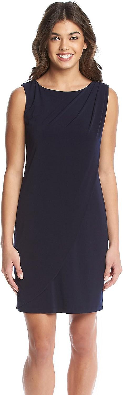Jessica Simpson Womens Sleeveless Ity Dress with Front Drape