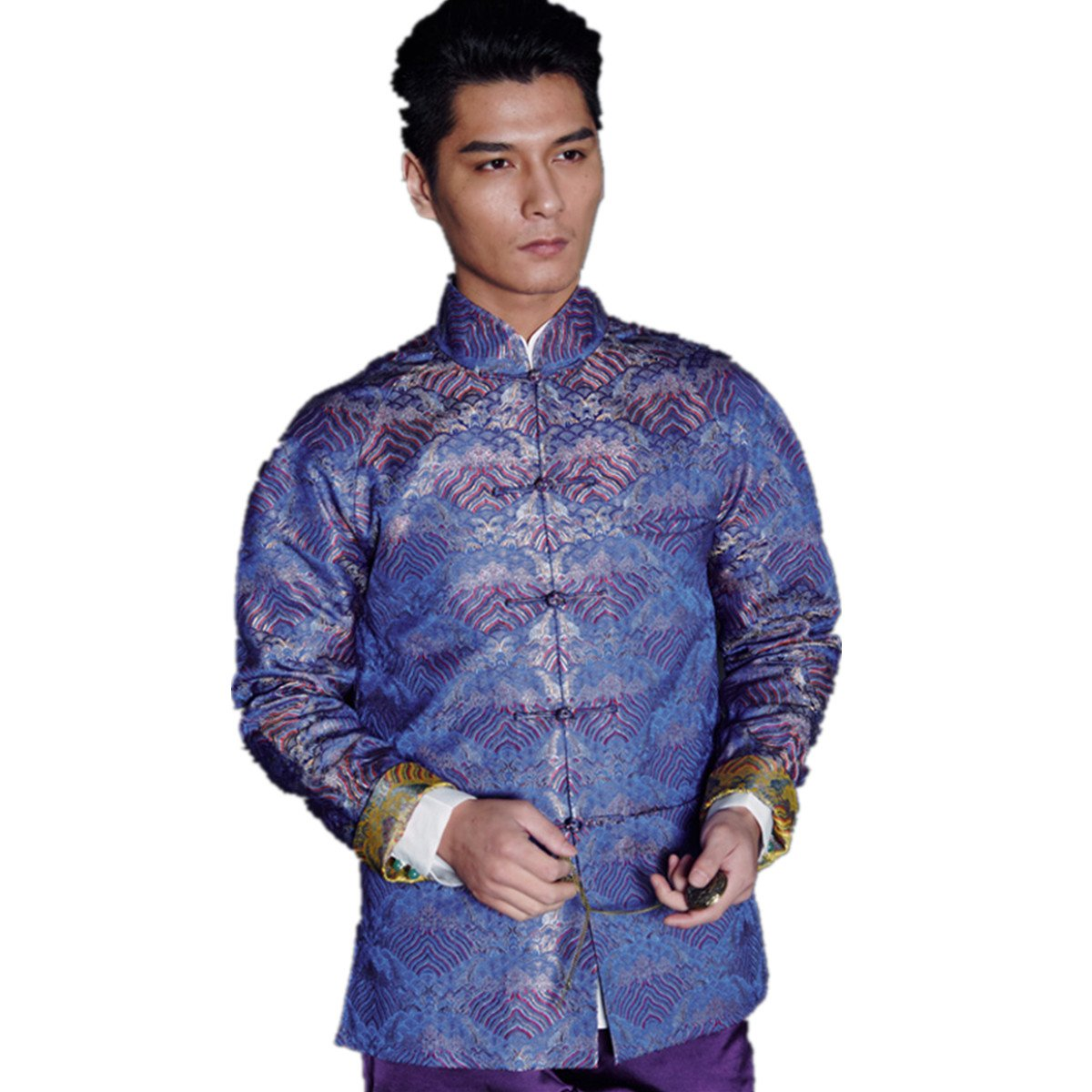 WEISAN Chinese Ancient Jacquard Pattern Jacket Spring Autumn Costume Coat Mens