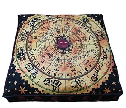Amazon.com: Atracción lugar indio Mandala almohada de suelo ...