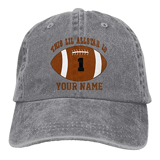 YYxin2xu 1st Birthday Boy Football Personalized Your Name Hat Snap Back Hip Hop Cap