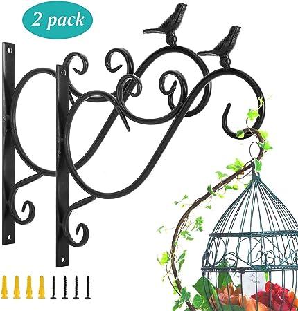 Plant Hook Bird Cage Hanger old vintage decorated castiron