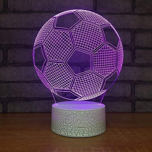 Subtop Lámpara de ilusión óptica 3D, 7 Lámpara de tacto de cambio de color con plano acrílico, base ABS, carga USB para decoración del hogar (Lámpara ...