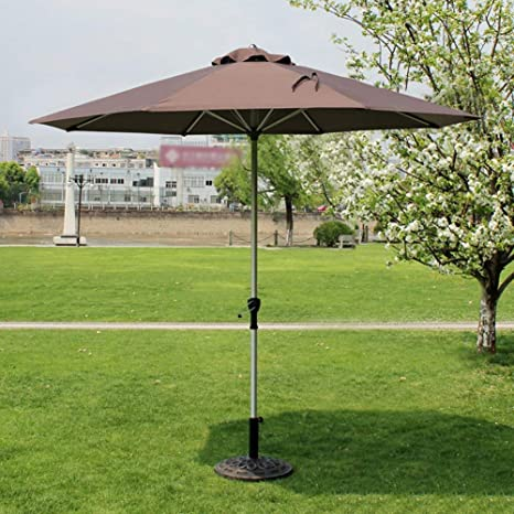 LNDDP Sombrillas Market Patio Sombrilla al Aire Libre Jardín Mesa jardín Toldo Sol Paraguas Poste Aluminio Protección UV 270cm * 250cm (Color: Color café): Amazon.es: Deportes y aire libre