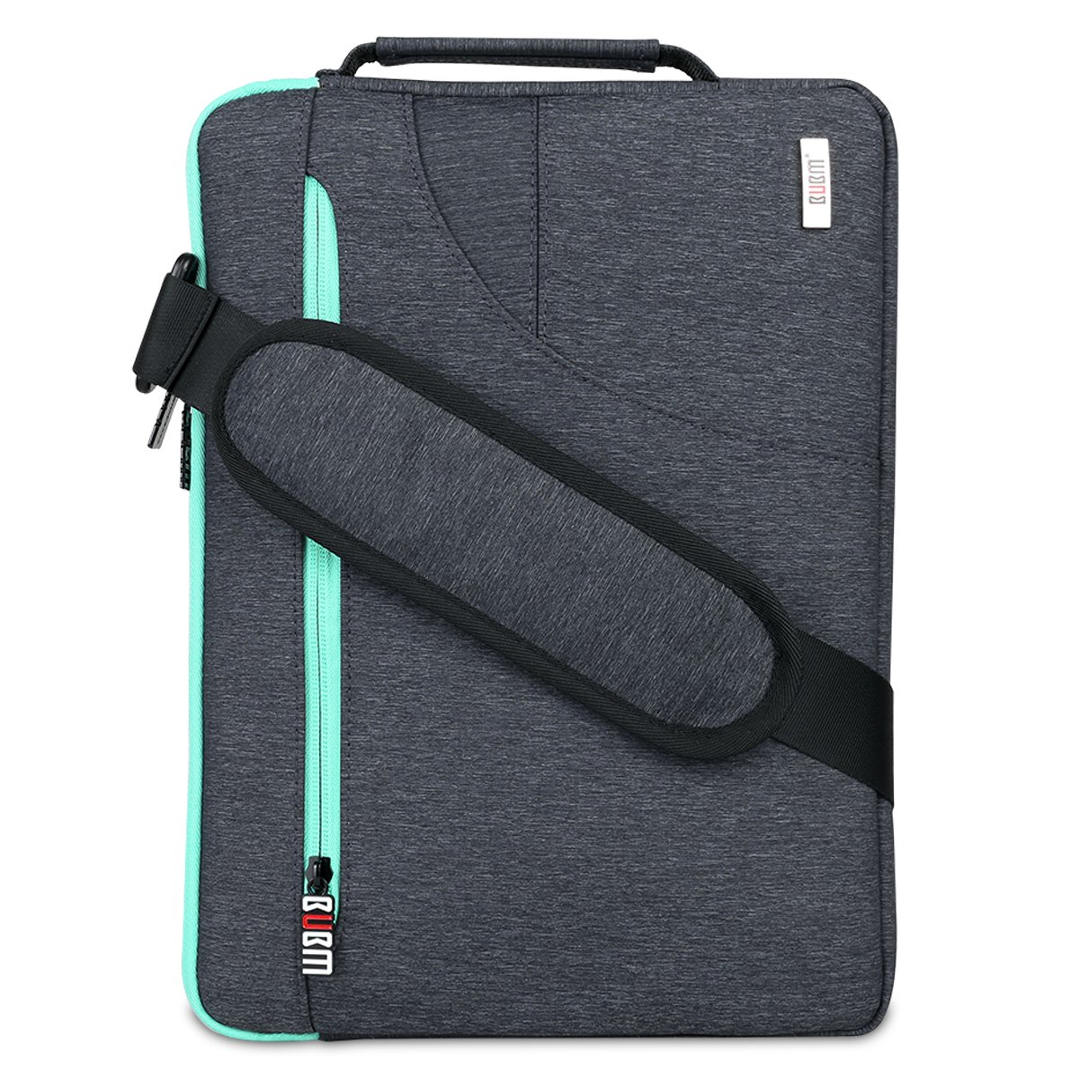 BUBM Travel Drop-Proof 13.3 inch Laptop Sleeve Shoulder Bag Compatible for 12inch New MacBook Pro Retina Air 12.9 inch iPad Pro Chromebook Notebook Tablet