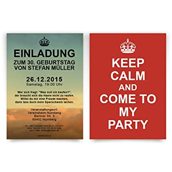 Keep calm party invitations birthday invitation cards pack of 40 keep calm party invitations birthday invitation cards pack of 40 filmwisefo