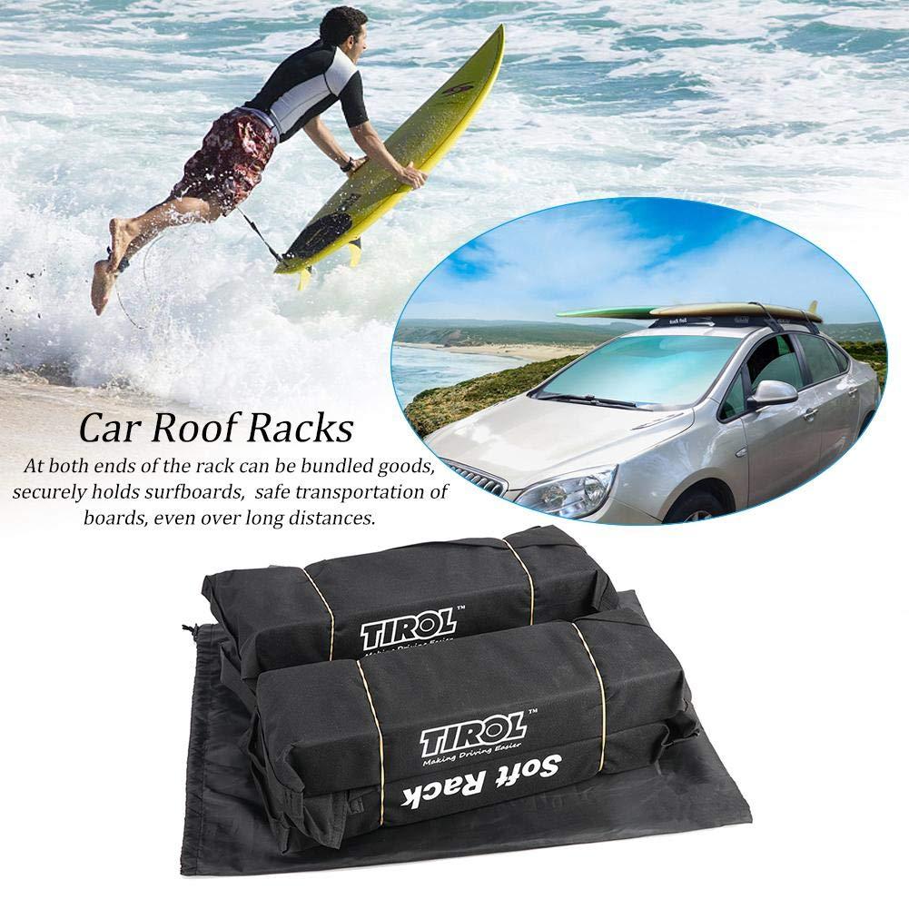 bagagli del tetto trasporta il carico 60kg 600D Barre del tetto del PVC di Oxford rinforza il bagaglio facile rimovibile perfetto per il kayak Cremagliera del tetto morbido dellautomobile universale