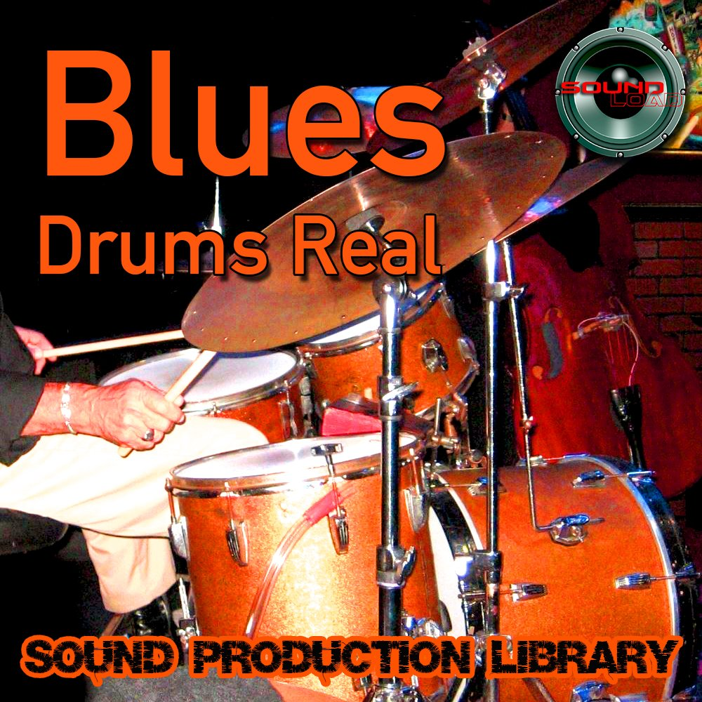 BLUES DRUMS Real - Unique Original 24bit Multi-Layer Samples/Loops Library on 2 DVD or for download