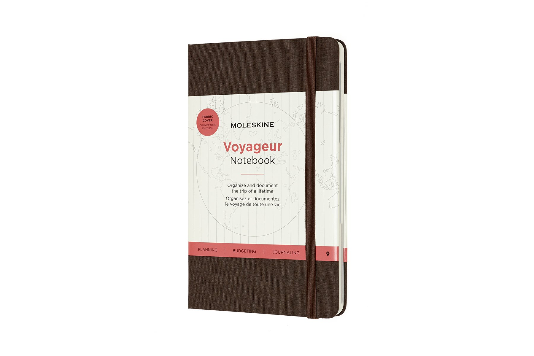 Moleskine Voyageur Hard Cover Notebook, Mixed, Coffee Brown