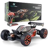 GizmoVine RC Voiture 4WD Haute Vitesse 2.4 Ghz télécommande Voiture électrique Racing Buggy RC véhicule pour Les Enfants et Les Adultes (Rouge-3)