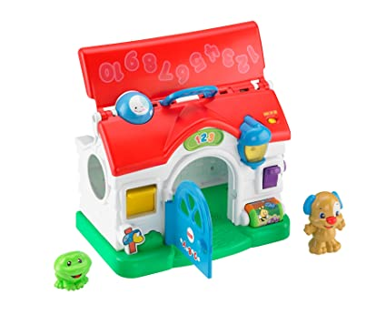 0ef95ed4e Amazon.com  Fisher-Price Laugh   Learn Puppy s Activity Home  Toys ...