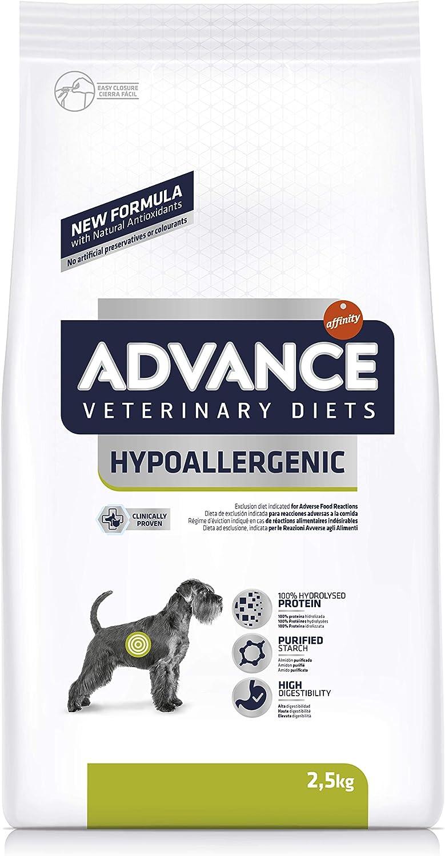 Advance Avance Veterinary Diets Hypoallergenic - Pienso hipoalergénico para Perros con intolerancias alimentarias - 2.5 kg