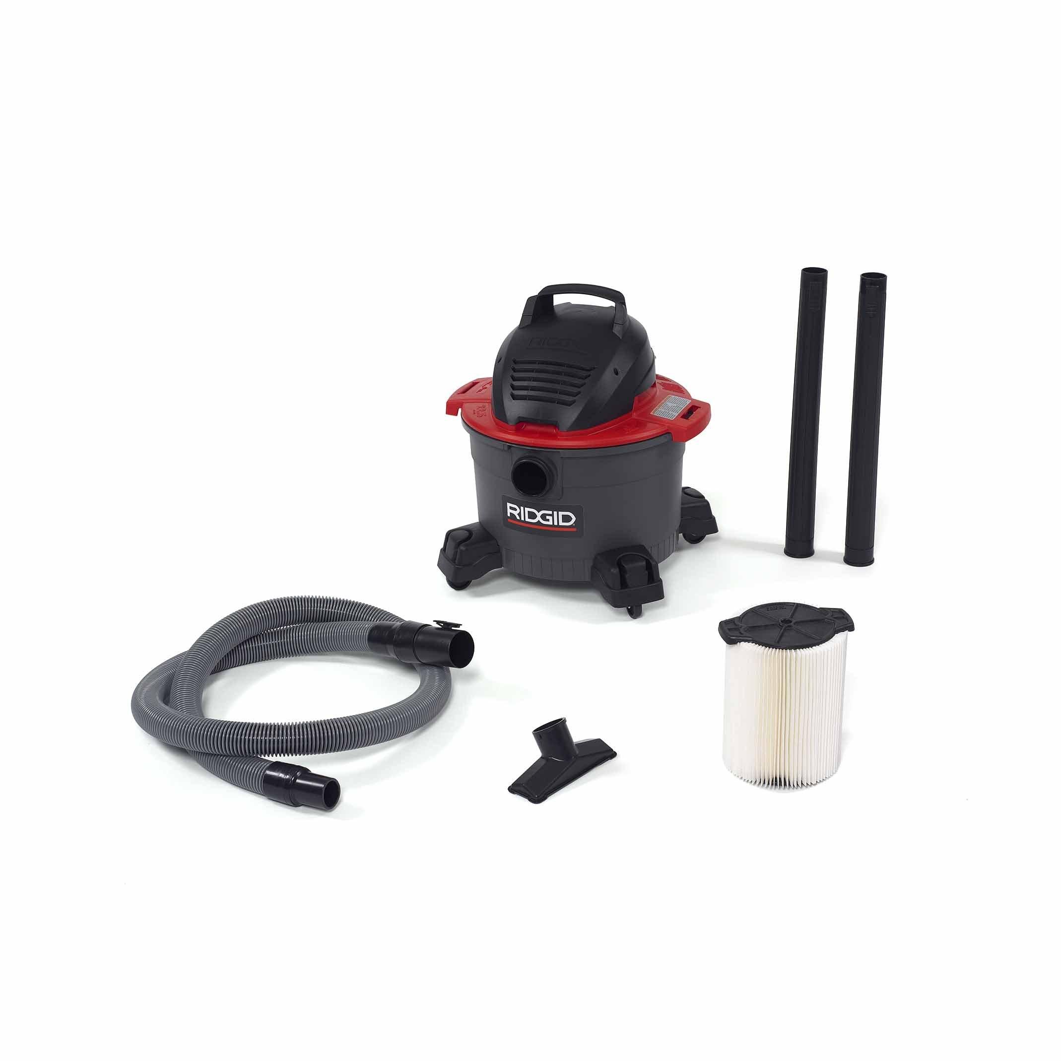 Ridgid 50308 6000RV Wet/Dry Vacuum, 6 gal, Red