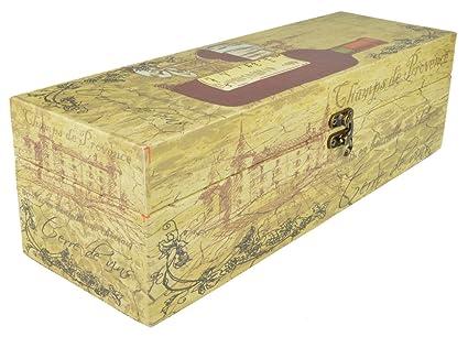 Piquaboo De madera Vintage vino baúl Carrier Holder caja de regalo