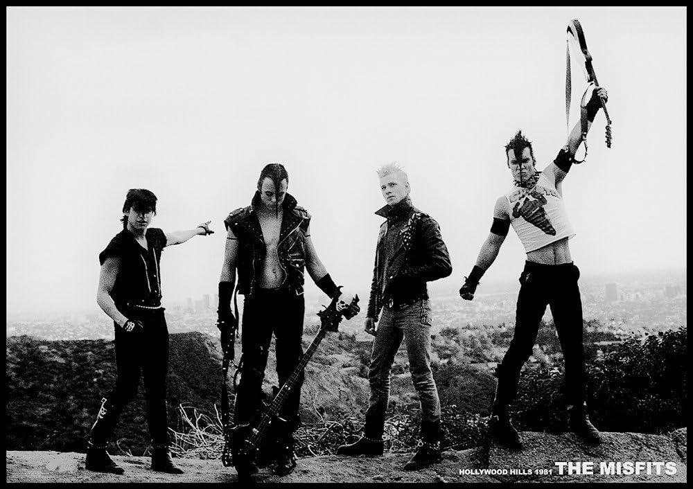 Misfits Hollywood Hills Los Angeles 1981 - Póster de los Misfits