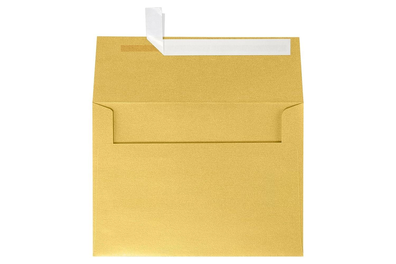 A4 Invitation Envelopes (4 1/4 x 6 1/4) - Gold Metallic (50 Qty) | Perfect for Invitations, Announcements, Sending Cards, 4x6 Photos | 4872-07-50 envelopes.com