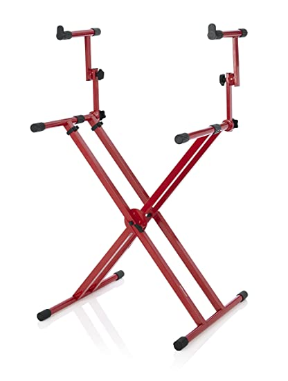 Amazon.com: Gator Frameworks Deluxe Two Tier X Frame Keyboard Stand ...