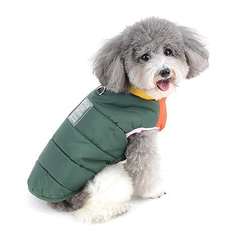 Zunea Impermeable Abrigo Chaqueta para Perros Pequeños Invierno ...