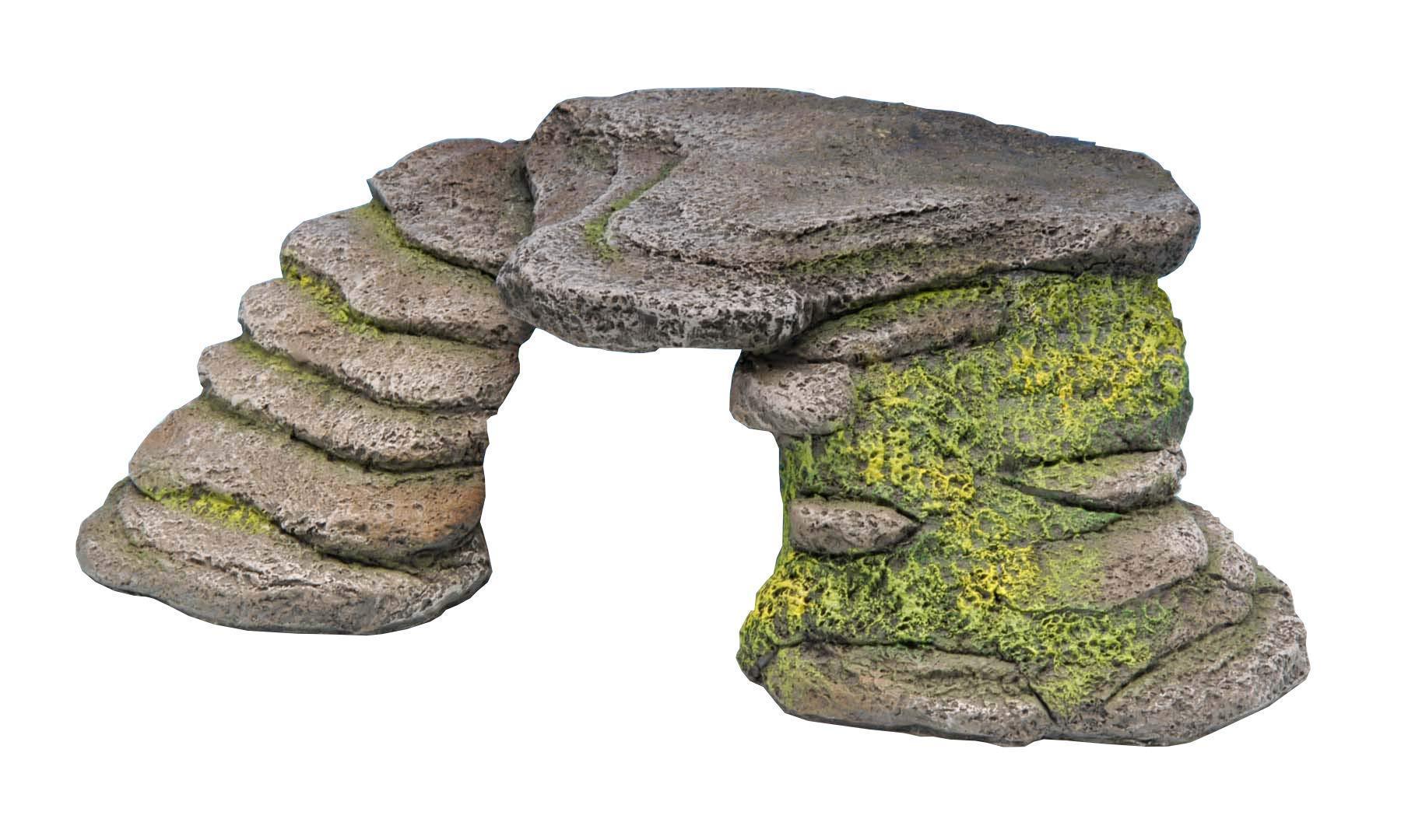 Penn-Plax Reptology Shale Step Ledge for Aquariums & Terrariums, Adds Hiding Spots, Swim Throughs, Basking Ledges for…