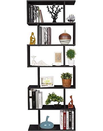 Homfa Estantería librería 6 Estantes Estantería Pared Estantería Libros de diseño 70x23.5x190cm