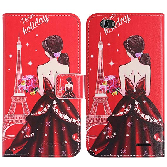 0642cf4df45e4 Amazon.com  TienJueShi Dream Girl Book-Style Flip Leather Protector ...
