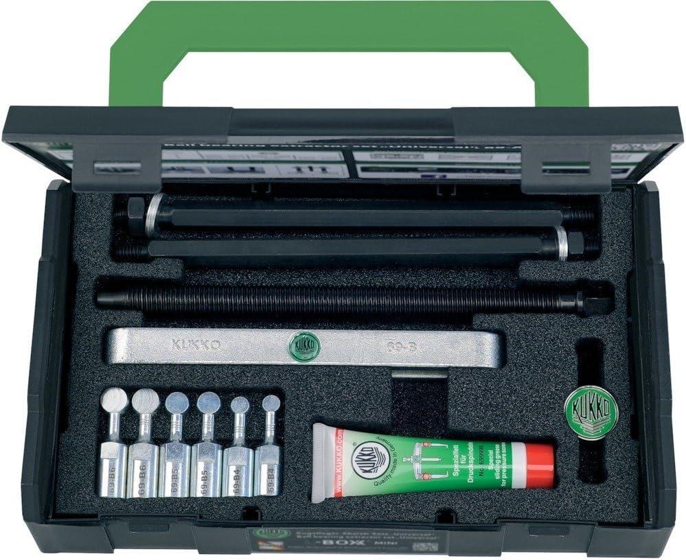 KUKKO Juego de extractores de rodamientos de bolas 69-B tensión 35-120mm 10 uds. i.Stahlblechko KUKKO